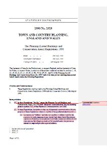 "This is an example screenshot for the above document, which provides a consolidated version of ""The Planning (Listed Buildings and Conservation Areas) Regulations 1990"" (i.e. the ""LBCA Regulations 1990"")."